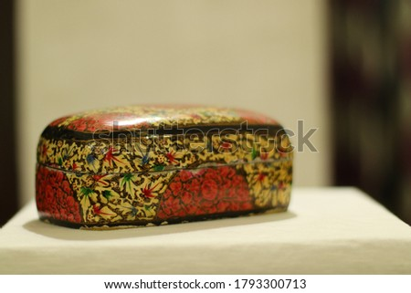 Jewellery Box in Papier-mâché is a composite material consisting of paper pieces or pulp Foto d'archivio ©