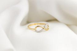 Jewellery jewelry ring rings gold 14kt zirkon zirkonium fashion luxury high fashion women style favorite infinity love forever 8
