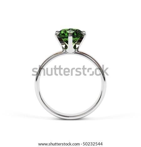Jewellery ring isolated on a white background.