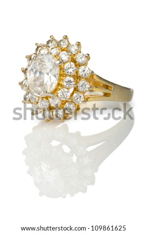 Jewellery ring isolated on white