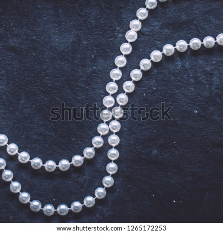 jewelry and luxury gift for her styled concept - wonderful pearl jewellery, elegant visuals #1265172253