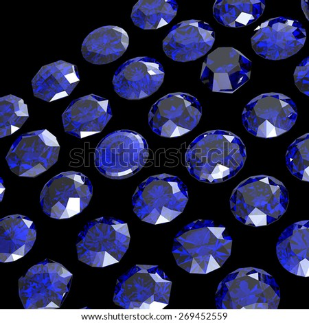Jewelry Background with  gemstones. Sapphire