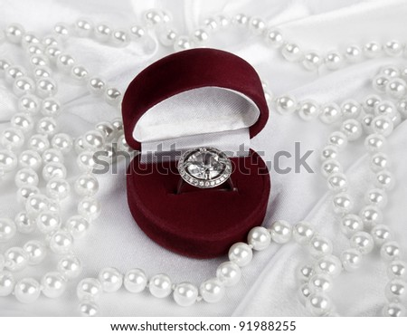 Jewelry boxes and silver ring