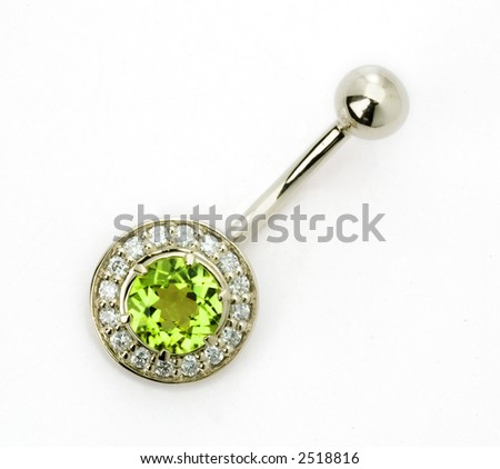 jewelry for the piercing with the diamond