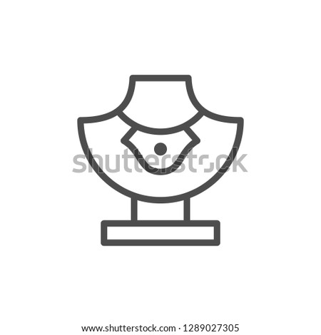 Jewelry mannequin line icon isolated on white