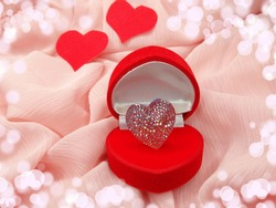 jewelry ring love valentine's day with heart form