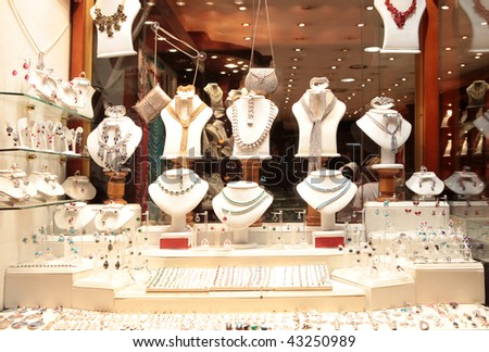 Jewelry store show-window