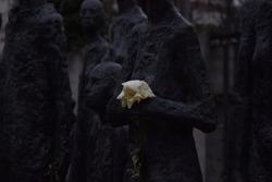 jewish black monument white rose