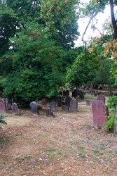 Jewish cemetery in Worms, the oldest in Europe, Germany.