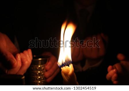 Jewish Havdala Ceremony Stok fotoğraf ©