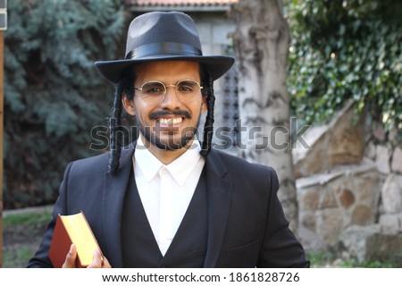 Jewish man smiling close up  Photo stock ©