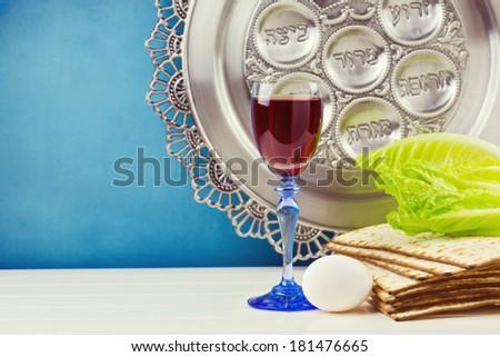 Jewish Passover holiday celebration background