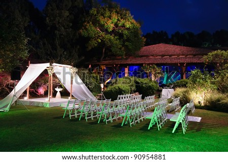 stock photo Jewish traditions wedding ceremony Wedding canopy chuppah or