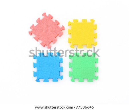 jigsaw on white, puzzle