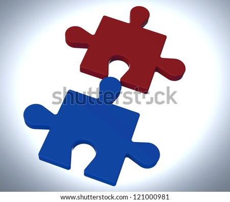 Jigsaw Pieces Showing Teamwork Assembly Solve Concept