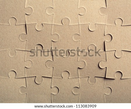 Jigsaw puzzle. Background or texture
