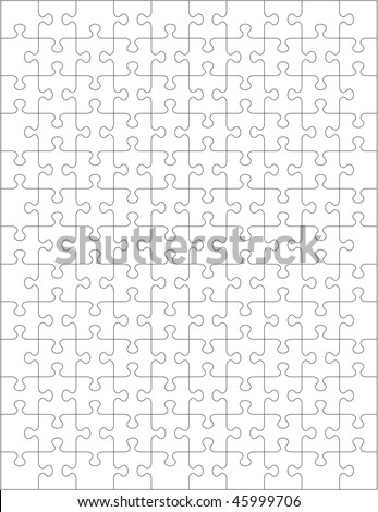 Jigsaw puzzle template for Puzzle cut out template