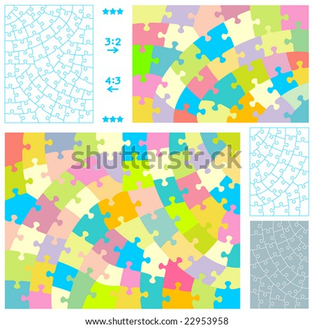 jigsaw puzzle template. stock photo : Jigsaw puzzle