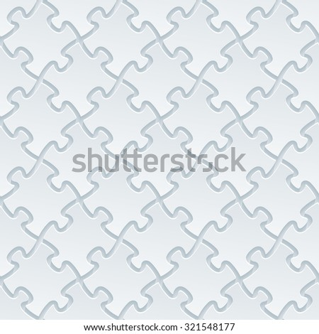 Jigsaw Puzzle 3d Seamless Background White Perforated Paper With Cut Out Effect
