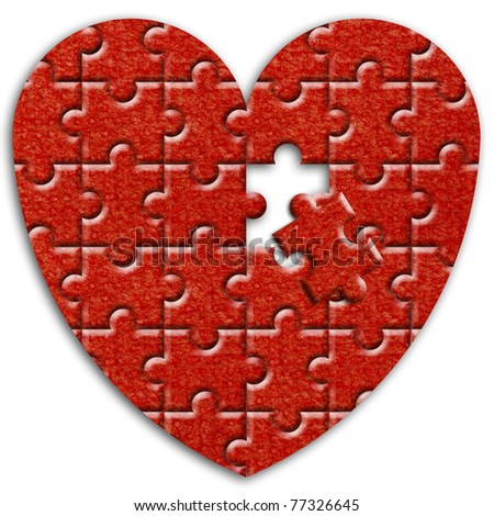jigsaw puzzle heart.
