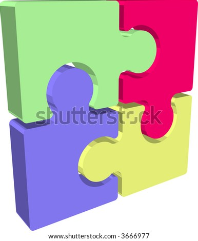Jigsaw puzzle pieces. Illustration of Jigsaw puzzle pieces. Raster version