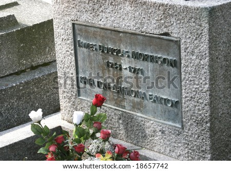 jim morrison of the doors grave ...