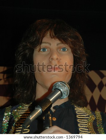 Jim Morrison wax model