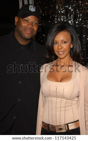 """Jimmy Jam and wife Lisa at the Los Angeles Premiere of """"Norbit"""".  Mann Village Theater, Westwood, CA. 02-08-07 - stock photo"""