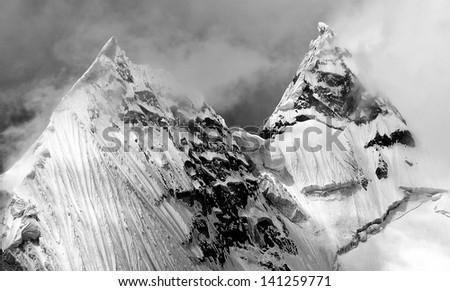 Jirishanca Peak in Cordiliera Huayhuash, Peru, South America #141259771