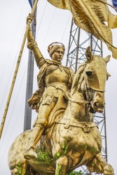 Joan D Arc - Maid of Orleans statue in New Orleans