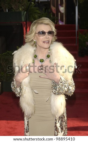 JOAN RIVERS at the 61st Annual Golden Globe Awards at the Beverly Hilton Hotel, Beverly Hills, CA. January 25, 2004