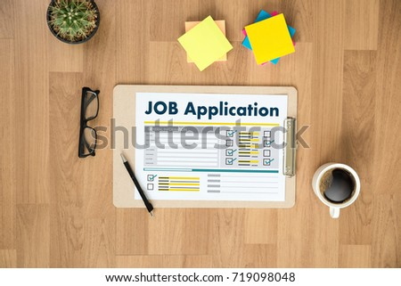 JOB Application Applicant Filling Up the Online  Profession Apply Hiring #719098048