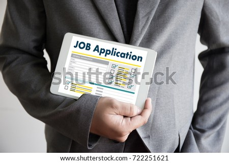 JOB Application Applicant Filling Up the Online  Profession Apply Hiring #722251621