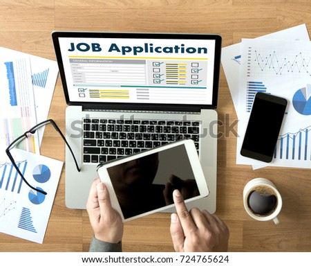JOB Application Applicant Filling Up the Online  Profession Apply Hiring #724765624