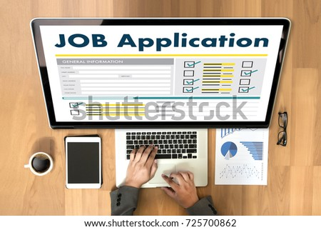 JOB Application Applicant Filling Up the Online  Profession Apply Hiring #725700862