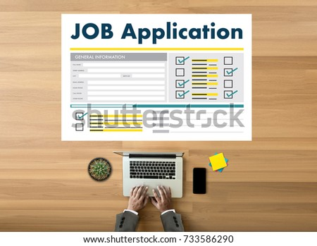 JOB Application Applicant Filling Up the Online  Profession Apply Hiring #733586290
