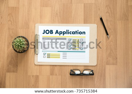 JOB Application Applicant Filling Up the Online  Profession Apply Hiring #735715384