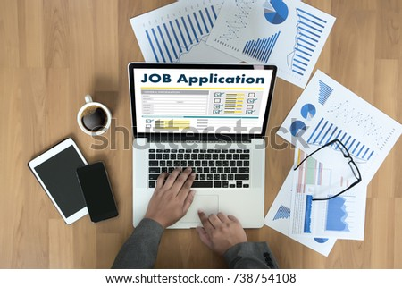 JOB Application Applicant Filling Up the Online  Profession Apply Hiring #738754108