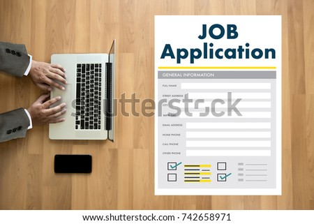 JOB Application Applicant Filling Up the Online  Profession Apply Hiring #742658971