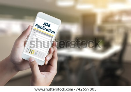 JOB Application Applicant Filling Up the Online  Profession Apply Hiring #742659805