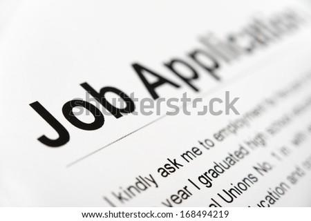 Job Application close