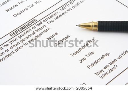 stock photo : job application