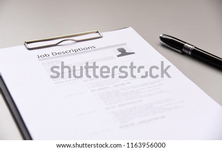 job description paper In office.