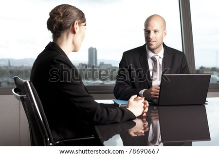 Job interview in an office