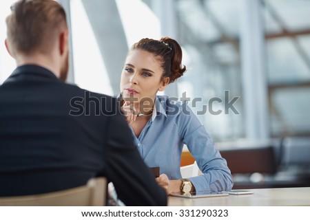 Job interview recruiter listen to candidate