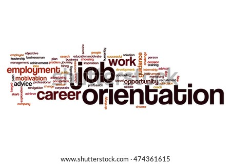 Job orientation word cloud concept