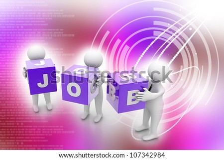 job search icon - stock photo