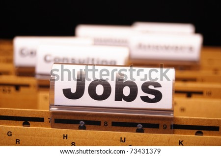 jobs or job concept with business folder in office showing earnings concept - stock photo