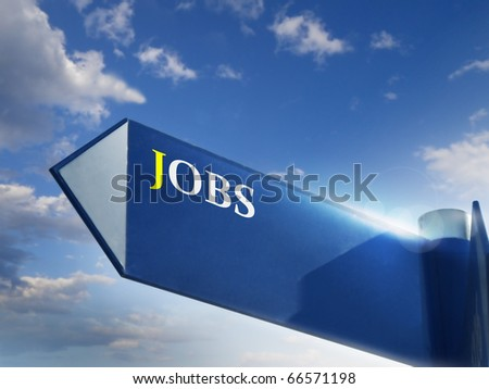 jobs road sing for business jobs and career concepts