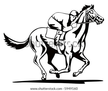 Horse Jockey Logo Jockey And Horse in Full